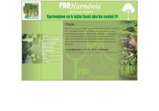 webstránka www.proharmonia.sk
